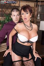 Boss female Gina receives some youthful cock