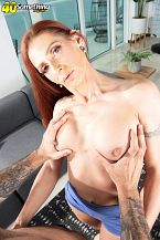 Tight-bodied, redheaded MILF's first time